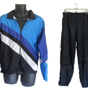 Men Windbreaker Wind Breaker 90s Windbreaker Jacket Track Suit Wind Pants Jogging Suit Retro Windbreaker Exercise Clothing Active Wear Light