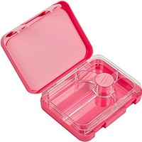 Snug Kids Bento Lunch Box with Leak Proof Liquid Section for Children and Adults (Pink)