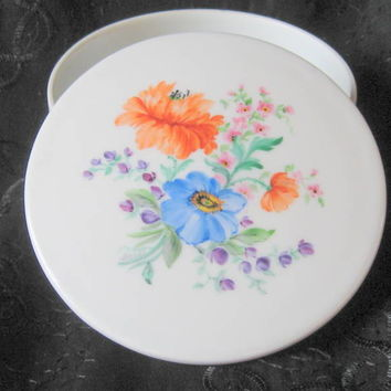Vintage Dresden Hand Painted Porcelain Box