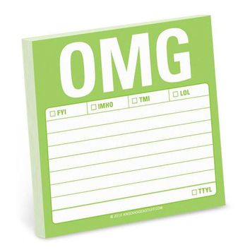 OMG Sticky Notes in Lime