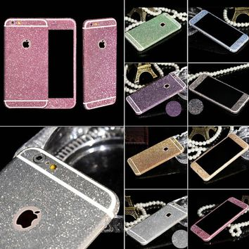 Shiny Full Body Glitter for iPhone 6 6S 4.7 Inch Phone Sticker Matte Screen Protector Mobile Phone Accessories