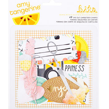 Embellishments - Amy Tangerine, Stitched, Cardstock Die Cuts