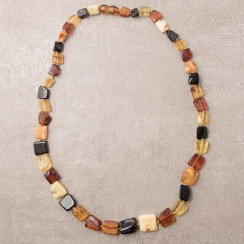 Fall Into Bliss Amber Beaded Necklace