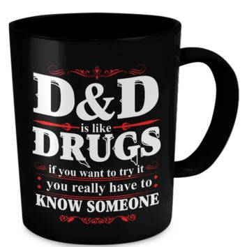 DND Drugs Mug - Black dnddrugsmugblk