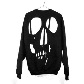 shopwithasianstereotypes: skull cut sweater