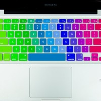 "Kuzy - Newest Rainbow Keyboard Cover Silicone Skin for MacBook Pro 13"" 15"" 17"" (with or w/out Retina Display) iMac and MacBook Air 13"" - Newest Rainbow"
