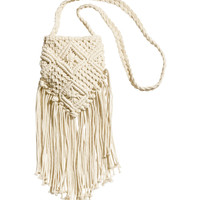 H&M - Macramé Bag - Light beige - Ladies