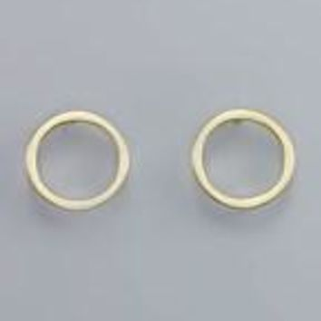 C-Out Circle Brass Post Earring
