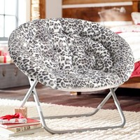 Gray Cheetah Hang-A-Round Chair