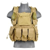 Lancer Tactical CA-307T Modular Chest Rig in Tan