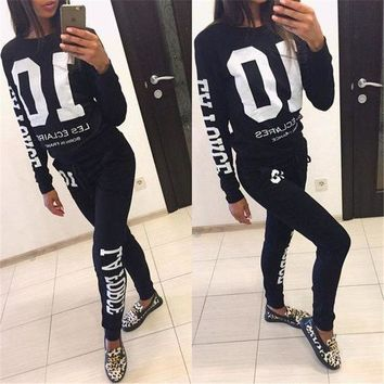 2018 Autumn Winter Fashion 2 Piece Set Tracksuit For Women Pant And Sweatsuits 10 Printed Women's Suits Clothing