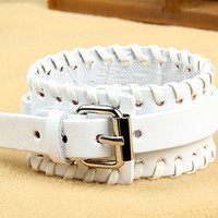 Fashion Leather Bracelet Women Leather Jewelry Bangle Cuff Bracelet Men Leather Bracelet CX25-W