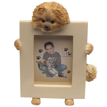 Pomeranian Holding Frame Small Picture Frame