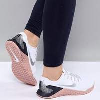Nike Training Metcon 4 Trainers In White at asos.com