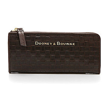 Dooney & Bourke Claremont Woven Zip Clutch Wallet