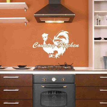 Country Kitchen with Rooster Wall Decal Wall Decal Quote