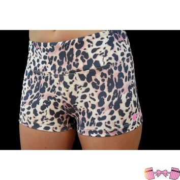 Animal Print Leopard Spandex Shorts