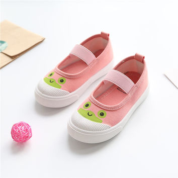 Girls Kids Shoes Slip-On Sneakers Kids Casual Shoes Canvas Cotton Fabric Toddler Boy Shoes 2017 Spring Animal Prints Mouse