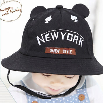 So Cute Baby Black Fisherman Cap Comfortable Hot Summer Gift 46