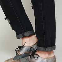 Womens Rhett Distressed Oxford