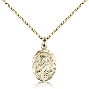"Saint Anthony Of Padua Medal For Women - Gold Filled Necklace On 18"" Chain - ... 617759798623"
