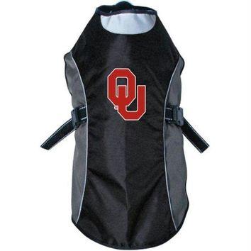 DCCKOP9 Oklahoma Sooners Water Resistant Reflective Pet Jacket