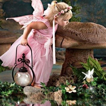 5D Diamond Painting Pink Fairy Mushroom Kit
