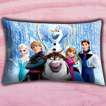 "Disney Frozen Olaf the Snowman Pillow Cover, Pillow case, Throw Bed Bedroom, Size 30"" x 20"""