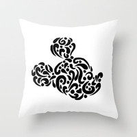 Abstract Mickey Throw Pillow by Lauren Draghetti | Society6