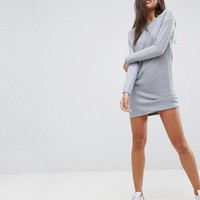 ASOS Sweater Dress In Ripple Stitch at asos.com