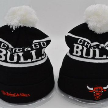 Chicago bulls Women Men Embroidery Beanies Knit Hat Cap-9