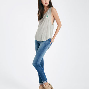 Embroidery Palm Tree Muscle Tank | Wet Seal