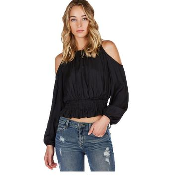 2016 Autumn New Fashion Women Off Shoulder Blouse Sexy Office Lady Long Sleeve Shirts Tops Plus Size Women Clothing