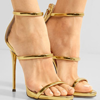Giuseppe Zanotti - Harmony metallic leather sandals