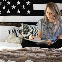 UrbanKnot Combo Set American Flag Tapestry Patriotic Wall Hanging With I-phone 6/ 6S Mandala Cover