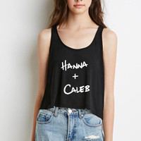 "Pretty Little Liars ""Hanna + Caleb"" Boxy, Cropped Tank Top"