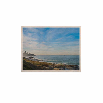 "Nick Nareshni ""Blue Sky Over The Ocean"" Teal Coastal KESS Naturals Canvas (Frame not Included)"