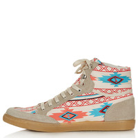 TEEPEE2 Aztec Hi-Tops - Flats - Shoes - Topshop USA