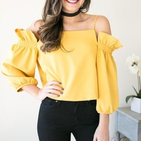 Your Own Way Ruffle Off the Shoulder Top