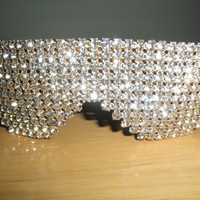 Rhinestone Studded Sunglasses by C Walthall by CWalthallDesigns