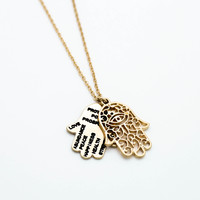 Hamsa inspiration necklace