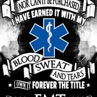 """Forever the Title EMT"" Vinyl Decal Sticker (5"" tall)"