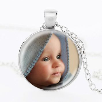 Personalized Photo Pendants Custom Necklace Photo of Your Baby Child Mom Dad Grandparent Loved One Gift for Family Member Gift