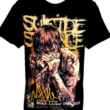 Suicide Silence Mitch Lucker T Shirt Size S M L Rock Band Music Heavy Metal