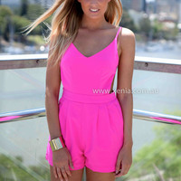 WILD DANCER PLAYSUIT , DRESSES, TOPS, BOTTOMS, JACKETS & JUMPERS, ACCESSORIES, SALE, PRE ORDER, NEW ARRIVALS, PLAYSUIT, COLOUR, GIFT VOUCHER,,Pink,JUMPSUIT,SLEEVELESS Australia, Queensland, Brisbane