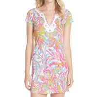 Women's Lilly Pulitzer 'Brewster' Contrast Trim Print T-Shirt Dress,