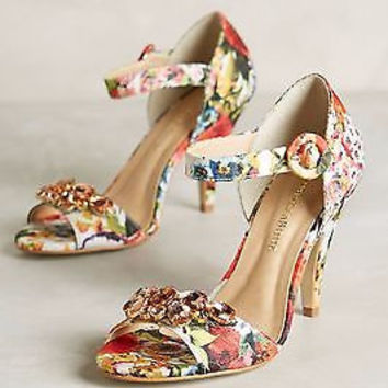 Anthropologie Raphaella Booz Jardinage Heels 36, 5 - NIB