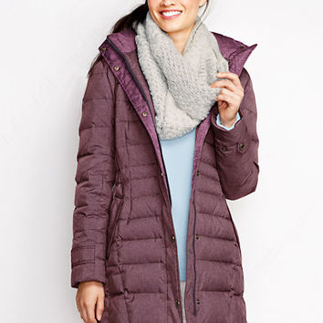 Women's Heathered Down Coat from Lands' End