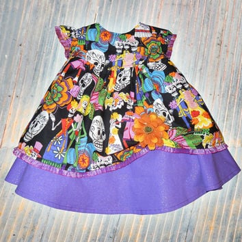 Dia De Los Muertos Day of The Dead twirly dress