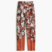 J.Crew Womens Collection Silk-Wool Twill Pant In Falling Floral